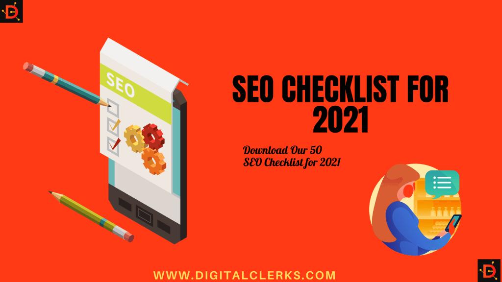 Free 50 SEO Checklist for 2021
