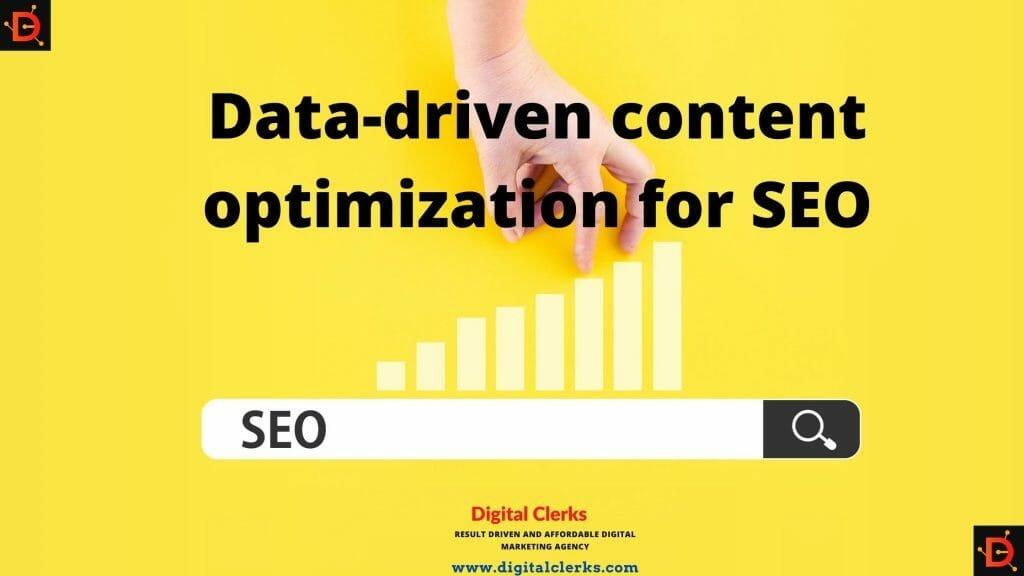 Data-driven content optimization for SEO